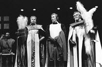 KING JOHN  by Shakespeare  design: John Napier, Martyn Bainbridge & Ann Curtis  original lighting design: David Hersey  director: John Barton with Barry Kyle <br> front, l-r: Emrys James (King John),...
