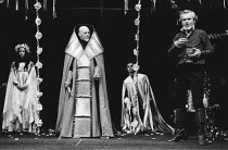 KING JOHN  by Shakespeare  design: John Napier, Martyn Bainbridge & Ann Curtis  original lighting design: David Hersey  director: John Barton with Barry Kyle <br> l-r: Louise Jameson (Blanche of Spai...