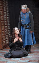 KING JOHN   by Shakespeare   director: Josie Rourke,III/iv - Tamsin Greig (Constance), Nicholas Day (King Philip of France),part of RSC ^The Complete Works^ Festival - April 2006-March 2007,Swan Theat...