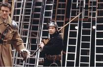 'KING JOHN' (Shakespeare - director: Deborah Warner),centre: Nicholas Woodeson (King John),Royal Shakespeare Company / The Other Place     Stratford-upon-Avon                10/05/1988       ,