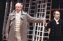 'KING JOHN' (Shakespeare - director: Deborah Warner),l-r: David Lyon (King Philip of France), Nicholas Woodeson (King John),Royal Shakespeare Company / The Other Place     Stratford-upon-Avon...