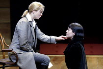 'TWELFTH NIGHT' (Shakespeare -  director: Sam Mendes)~l-r: Emily Watson (Viola), Helen McCrory (Olivia)~Donmar Warehouse, London WC2           22/10/2002