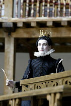 TWELFTH NIGHT  by Shakespeare  Master of Play (director): Tim Carroll ~Mark Rylance (Olivia)~Shakespeare's Globe, London SE1  22/05/2002 ~(c) Donald Cooper/Photostage   photos@photostage.co.uk   ref/5...