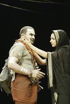 'TWELFTH NIGHT' (Shakespeare - director: Stephen Beresford)~Kulvinder Ghir (Feste), Neha Dubey (Olivia)~Albery Theatre, London WC2                 26/08/2004