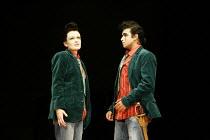 TWELFTH NIGHT   by Shakespeare - director: Michael Boyd ~Sally Tatum (Viola), Gurpreet Singh (Sebastian) ~Royal Shakespeare Company (RSC), Novello Theatre, London WC2  13/12/2005             ~(c) Dona...
