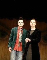 TWELFTH NIGHT   by Shakespeare - director: Michael Boyd ~l-r: Sally Tatum (Viola), Aislin McGuckin (Olivia) ~Royal Shakespeare Company (RSC), Royal Shakespeare Theatre, Stratford-upon-Avon  28/04/2005...