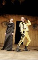 'TWELFTH NIGHT' (Shakespeare - director: Michael Boyd) ~Aislin McGuckin (Olivia), Richard Cordery (Malvolio)~Royal Shakespeare Company (RSC), Royal Shakespeare Theatre, Stratford-upon-Avon  28/04/2005...