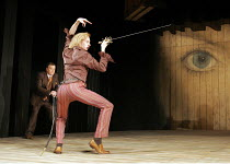 'TWELFTH NIGHT' (Shakespeare - director: Michael Boyd),III/i - l-r: Nicky Henson (Sir Toby Belch), John Mackay (Sir Andrew Aguecheek) ~Royal Shakespeare Company (RSC), Royal Shakespeare Theatre, Strat...