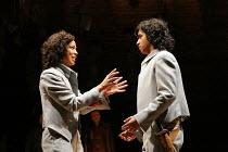'TWELFTH NIGHT' (Shakespeare - director: Michael Boyd)~V/i - the twins reunited: Kananu Kirimi (Viola), Gurpreet Singh (Sebastian) ~Royal Shakespeare Company (RSC), Royal Shakespeare Theatre, Stratfor...