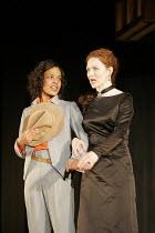 'TWELFTH NIGHT' (Shakespeare - director: Michael Boyd) ~l-r: Kananu Kirimi (Viola), Aislin McGuckin (Olivia) ~Royal Shakespeare Company (RSC), Royal Shakespeare Theatre, Stratford-upon-Avon  28/04/200...