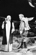 'TWELFTH NIGHT' (Shakespeare - director: John Caird),l-r: Emrys James (Malvolio), John Thaw (Sir Toby Belch),Royal Shakespeare Company / Royal Shakespeare Theatre   Stratford-upon-Avon   04/1983...