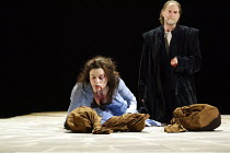 TITUS ANDRONICUS  by Shakespeare  design: Ruari Murchison  lighting: Tim Mitchell  fights: Malcolm Ranson  director: Bill Alexander ~Eve Myles (Lavinia), David Bradley (Titus Andronicus) with the head...