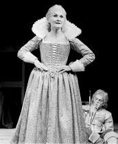 TITUS ANDRONICUS by Shakespeare design: Christopher Morley lighting: Brian Harris director: John Barton <br>~Sheila Hancock (Tamora) ~Royal Shakespeare Company (RSC), Royal Shakespeare Theatre Stratfo...