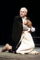 'TITUS ANDRONICUS' (Shakespeare)~Patrick Stewart (Titus Andronicus), Leonie Mellinger (Lavinia)~Royal Shakespeare Company / Royal Shakespeare Theatre   Stratford-upon-Avon          26/08/1981