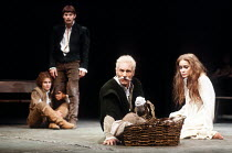 'TITUS ANDRONICUS' (Shakespeare)~l-r: Diana Hardcastle (Young Lucius), Paul Shelley (Lucius), Patrick Stewart (Titus Andronicus), Leonie Mellinger (Lavinia)~Royal Shakespeare Company / Royal Shakespea...