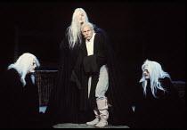 'TITUS ANDRONICUS'~l-r: Colin Tarrant (Chiron), Sheila Hancock (Tamora), Patrick Stewart (Titus Andronicus), Roger Allam (Demetrius)~RSC/RST 1981