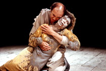 'TITUS ANDRONICUS' (Shakespeare)~Donald Sumpter (Marcus Andronicus), Sonia Ritter (Lavinia)~Royal Shakespeare Company / The Pit, Barbican Theatre   London              04/06/1988