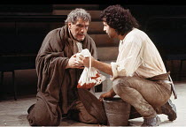 TITUS ANDRONICUS   by Shakespeare   director: Deborah Warner,l-r: Brian Cox (Titus Andronicus), Peter Polycarpou (Aaron),Royal Shakespeare Company / Swan Theatre   Stratford-upon-Avon   12/05/1987...