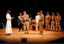 'TITUS ANDRONICUS' (Shakespeare)   (director: Gregory Doran)~centre: Antony Sher (Titus Andronicus)~Market Theatre Johannesburg / West Yorkshire Playhouse, Leeds   England                   12/07/1995