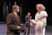 'THE TWO GENTLEMEN OF VERONA' (Shakespeare - director: Fiona Buffini),II/i - l-r: Alex Avery (Valentine), (rear) Simon Watts (Speed), Rachel Pickup (Sylvia),RSC Tour 2004/5   Ebbw Vale...