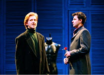 'THE TWO GENTLEMEN OF VERONA' (Shakespeare) ~the two Gentlemen, l-r: Tom Goodman-Hill (Valentine), Dominic Rowan (Proteus)~RSC/Swan  Theatre, Stratford-upon-Avon  24/02/1998