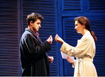 'THE TWO GENTLEMEN OF VERONA' (Shakespeare) ~Dominic Rowan (Proteus), Lesley Vickerage (Julia)~RSC/Swan  Theatre, Stratford-upon-Avon  24/02/1998