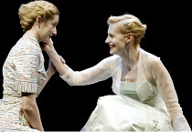 'THE WINTER'S TALE' (Shakespeare)~l-r: Lauren Ward (Perdita), Anastasia Hille (Hermione)~RSC/The Roundhouse, London NW1      12/04/2002