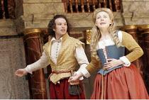 'THE WINTER'S TALE' (Shakespeare - director/'Master of Play': John Dove),IV/iv: David Sturzaker (Florizel, disguised as Doricles), Juliet Rylance (Perdita),Shakespeare's Globe, London SE1          15/...
