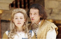 'THE WINTER'S TALE' (Shakespeare - director/'Master of Play': John Dove),IV/iv: Juliet Rylance (Perdita), David Sturzaker (Florizel, disguised as Doricles),Shakespeare's Globe, London SE1          15/...