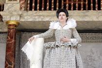 'THE WINTER'S TALE' (Shakespeare - director/'Master of Play': John Dove),V/iii: Yolanda Vazquez (Hermione - as statue),Shakespeare's Globe, London SE1          15/06/2005            ,
