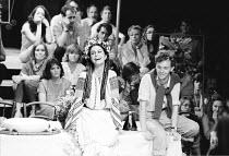 'THE WINTER'S TALE' (Shakespeare)~foreground, l-r: Jenifer Landor (Perdita), John Dougall (Florizel)~RSC/Regional Tour  1984
