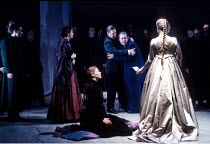 THE WINTER'S TALE   by Shakespeare   design: Anthony Ward   lighting: Chris Parry   director: Adrian Noble ~kneeling: Phyllida Hancock (Perdita)  centre: Paul Jesson (Polixines), John Nettles (Leontes...
