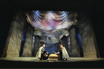 THE WINTER'S TALE by Shakespeare  design: Robert Jones  lighting: Tim Mitchell  director: Gregory Doran ~III/i - l-r: Steven Atholl (Dion), William Mannering (Cleomenes),~Royal Shakespeare Company (RS...