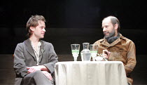 TOTAL ECLIPSE   by Christopher Hampton   director: Paul Miller <br>,l-r: Jamie Doyle (Rimbaud), Daniel Evans (Verlaine),Menier Chocolate Factory / London SE1                                      28/03...