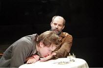TOTAL ECLIPSE   by Christopher Hampton   director: Paul Miller <br>,front: Jamie Doyle (Rimbaud)   rear: Daniel Evans (Verlaine),Menier Chocolate Factory / London SE1...