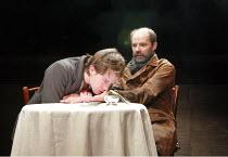 TOTAL ECLIPSE   by Christopher Hampton   director: Paul Miller <br>,front/left: Jamie Doyle (Rimbaud)   rear/right: Daniel Evans (Verlaine),Menier Chocolate Factory / London SE1...