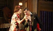 THE ROSE TATTOO   by Tennessee Williams   directors: Steven Pimlott & Nicholas Hytner <br>,Zoe Wanamaker (Serafina delle Rose), Darrell D^Silva (Alvaro Mangiacavallo),Olivier Theatre / National Theatr...