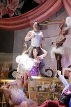 L'HEURE ESPAGNOLE   by Ravel   conductor: Antonio Pappano   director: Richard Jones <br>,centre: Christine Rice (Concepci'n), Christopher Maltman (Ramiro),The Royal Opera / Covent Garden   London WC2...