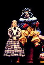'ALICE IN WONDERLAND',Lesley Manville (Alice), Harold Innocent (Caterpillar),Lyric Theatre Hammersmith 1986,