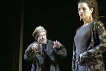'KING LEAR' (Shakespeare - director: Bill Alexander)~Corin Redgrave (King Lear), Emily Raymond (Gonerill)~Royal Shakespeare Company /  Royal Shakespeare Theatre, Stratford-upon-Avon, England   30/06/2...
