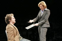 LANDSCAPE WITH WEAPON   by Joe Penhall   director: Roger Michell <br>,Tom Hollander (Ned), Pippa Haywood (Ross),Cottesloe Theatre / National Theatre, London SE1                     05/04/2007,