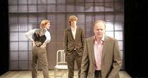 LANDSCAPE WITH WEAPON   by Joe Penhall   director: Roger Michell <br>,l-r: Pippa Haywood (Ross), Julian Rhind-Tutt (Dan), Jason Watkins (Brooks),Cottesloe Theatre / National Theatre, London SE1...