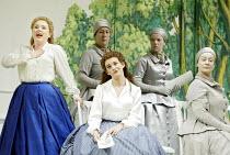 'XERXES' (Handel)~left: Rebecca Evans (Romilda)   centre: Mary Nelson (Atalanta)~English National Opera / London Coliseum  WC2   07/11/2002