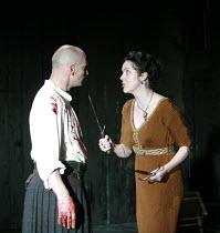 MACBETH by Shakespeare  director: Conall Morrison  ~Patrick O'Kane (Macbeth), Derbhle Crotty (Lady Macbeth)~Royal Shakespeare Company (RSC), Swan Theatre, Stratford-upon-Avon, England  17/04/2007