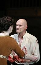 MACBETH by Shakespeare  director: Conall Morrison  ~Derbhle Crotty (Lady Macbeth), Patrick O'Kane (Macbeth)~Royal Shakespeare Company (RSC), Swan Theatre, Stratford-upon-Avon, England  17/04/2007