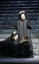 CORIOLANUS   by Shakespeare   director: Yukio Ninagawa ,(standing) Kayoko Shiraishi (Volumnia) ,with Tatsuki Kohju (Virgilia), Chihiro Maebashi (Young Martius),The Ninagawa Company / BITE:07 / Barbica...