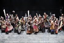 CORIOLANUS   by Shakespeare   director: Yukio Ninagawa ,plebeians,The Ninagawa Company / BITE:07 / Barbican Theatre, London EC2   25/04/2007             ,