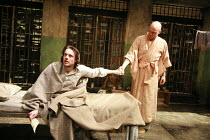 KISS OF THE SPIDER WOMAN   by Manuel Puig   director: Charlotte Westenra <br>,l-r: Rupert Evans (Valentin), Will Keen (Molina),Donmar Warehouse / London WC2                  25/04/2007      ,