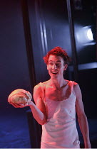 HAMLET  by Shakespeare  design: Laura Hopkins  lighting: Mark Jonathan  fights: Terry King  director: Rupert Goold <br>~Tobias Menzies (Hamlet) ~Royal Theatre, Northampton, England  22/03/2005 ~(c) Do...