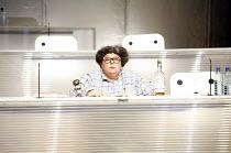 FUTUROLOGY   dramaturgy: David Greig & Dan Rebellato   music: Nick Powell   director: Graham Eatough <br>,Angela de Castro,Suspect Culture / National Theatre of Scotland   Corn Exchange, Brighton Dome...
